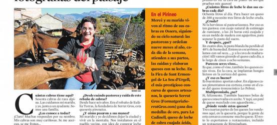 La Contra | Mercè Lagrava, quesera: 'Mis quesos de cabra son fotografías del paisaje'