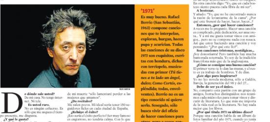 La Contra | Rafael Berrio, compositor y cantante: 'En cada bostezo siento puesta cada fibra de mi ser'