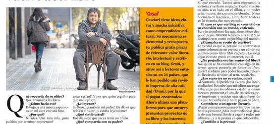 La Contra | Hernán Casciari, escritor y bloguero: 'La cultura vuelve a ser libre'