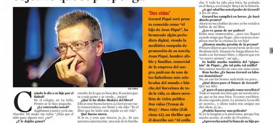 La Contra | Joan Piqué, novelista y padre de Gerard Piqué: 'Gerard logrará cualquier objetivo que se proponga'