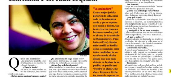 La Contra | Michela Murgia, novelista sarda: 'En los pueblos sardos había una madre en cada esquina'