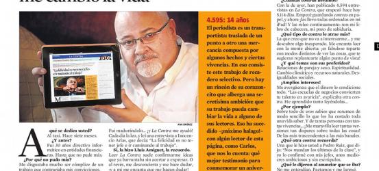 La Contra 14 aniversario | Carlos Roldán, taxista y coleccionista de 'contras': 'Puedo decir que 'La Contra' me cambió la vida'