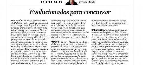 CRÍTICA DE TV | Evolucionados para concursar
