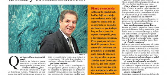 La Contra | Joan Antoni Melé, banquero ético: '¿Dejas que tu dinero financie armas y contaminación?'