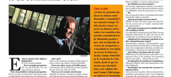 La Contra | Manuel Campo Vidal, comunicador: 'No nos tomamos en serio lo de comunicar bien'