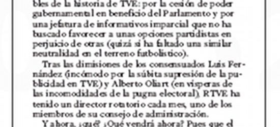 Crítica de TV | TVE en otra encrucijada, por Víctor-M. Amela