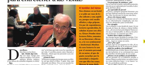 La Contra | Álvaro Pombo, escritor: 'Mis padres me sacaban para entretener a las visitas'