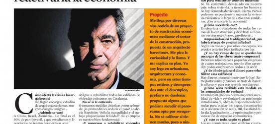 La Contra | Jordi Masip, arquitecto: 'Rehabilitar edificios por ley reactivaría la economía'