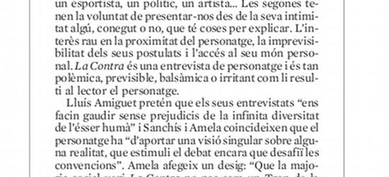 EL DEFENSOR DEL LECTOR, Josep Rovirosa | 'La Contra': 'És tan polèmica, previsible, balsàmica o irritant com li resulti al lector el personatge'