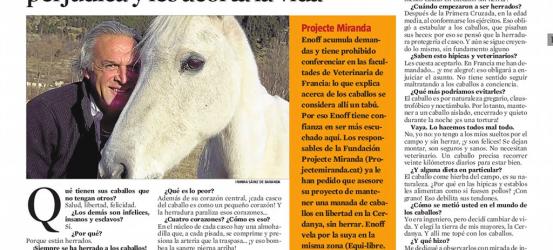 La Contra | Pierre Enoff, defensor de los caballos: 'Herrar a los caballos los perjudica y les acorta la vida'