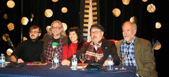 Presentación de 'Morbo' en Vilanova i la Geltrú, 14-2-2012 con Pere Tapias y Josep Maria Cabayol