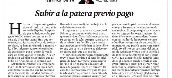 CRÍTICA DE TV | Víctor-M.Amela: Subir a la patera previo pago