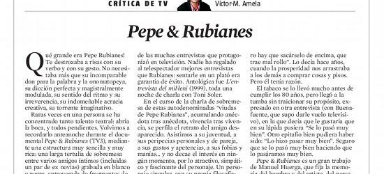 Crítica de TV | Pepe & Rubianes