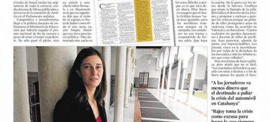 La Contra que le hice a Pilar Navarro, citada en una entrevista