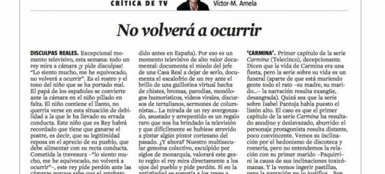 Crítica de TV 20 abril 2012 | No volverá a ocurrir