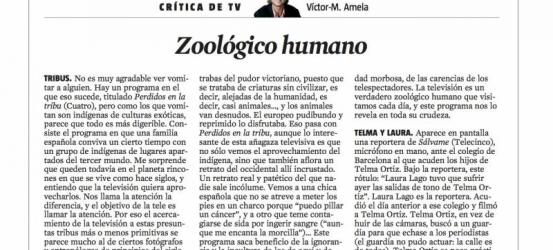 Crítica de TV 26 de abril 2012 | Zoológico humano