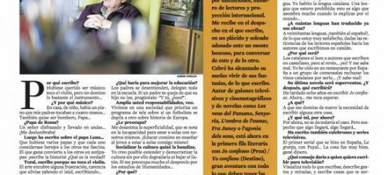 La Contra   Jaume Cabré: 'Educar es enseñar al joven a estar a solas consigo mismo'
