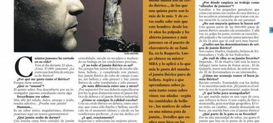 La Contra | Manuel López: 'El jamón ibérico supera al caviar, el foie y la trufa'