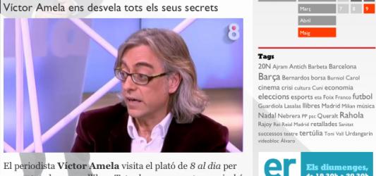 Avui 9 de maig, Víctor Amela a 8TV | Visita al plató de 8 al dia per presentar 'Tots els meus secrets, o gairebé' Ediciones B