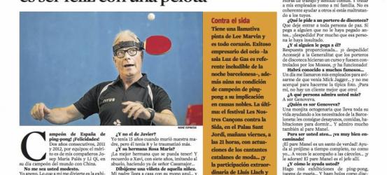 La Contra | Fede Sardà, empresario del ocio y campeón de España de ping-pong: 'Triunfar en la vida es ser feliz con una pelota'