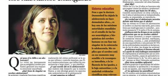 La Contra | Iroise Dumontheil, estudiosa del cerebro adolescente: 'Sin la insensatez adolescente, nos habríamos extinguido'