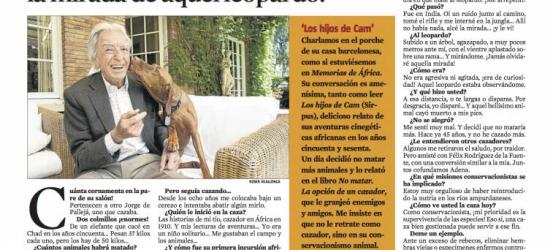 La Contra | Jorge de Pallejá: 'Disparé... ¡y jamás olvidaré la mirada de aquel leopardo!'