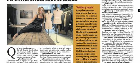 La Contra | Patrycia Centeno, periodista especializada en moda: 'Nuestros políticos descuidan su coherencia ideoestética'