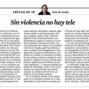 Crítica de TV 20-7-2012 | Artículo de Víctor Amela: 'Sin violencia no hay tele'
