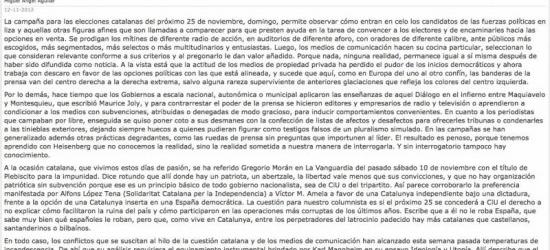 EL PAÍS cita la crónica de Víctor Amela | 'La campaña: modos, munición y conceptos', por Miguel Ángel Aguilar