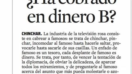 Crítica de TV 27-1-2013 | ¿Ha cobrado en dinero B?