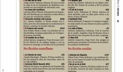Foto | #333vitamines a la llista dels més venuts de La Vanguardia d'avui ;))