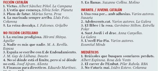 Piñol, Falcones, Sierra, Amela: ¡un placer estar entre los grandes! ¡Viva la lectura!
