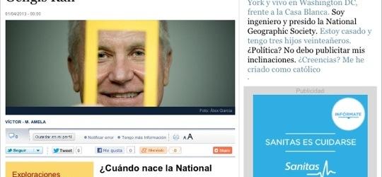 La Contra | John M. Fahey, presidente de la National Geographic Society:
