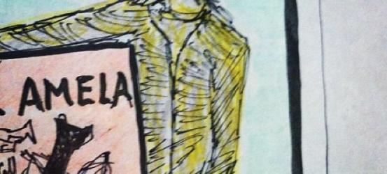 El cátaro imperfecto | Fragmento (2 de 4) de mi esbozo para cartel promocional de presentación de mi novela (3 de abril en librerías): #cataroimperfecto