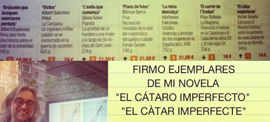 Firmo ejemplares de #cataroimperfecto en la Feria del libro de Castellón! Veniu!!!!