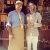 Con Lluís Esparver, l'inventor de les ulleres de fusta (i rellotge de fusta, i corvata de fusta, i gorra de fusta...), a la Fira Medieval de Bagà #catarimperfecte