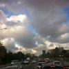 Densísimo tráfico en Diagonal, para entrar en Barcelona: viernes