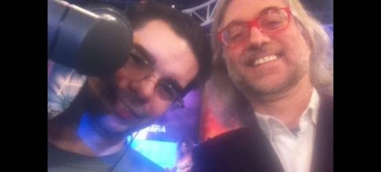 Con Isaac, a punto de @teletulia_8tv