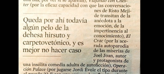 Mi Crítica TV, hoy @elmonarac1 @davidbroc @jordievole @ristomejide @joeljoanjuve