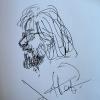 La gran dramaturga, novelista, pintora y cantante rusa Liudmila Petrushievkaia me ha dibujado hoy