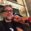 De cena with @roseramills , al filo de un ataque de dancing #damefogo