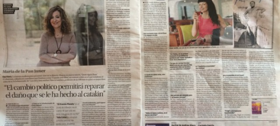 Dos novelistas mallorquinas hoy en @diariodemallorca @roseramills i Maria de la Pau Janer