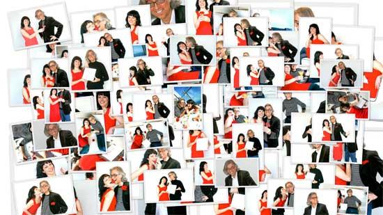 Sesión de fotos Víctor Amela y Roser Amills para Paraules d'amor, Hotel W, con Jordi Play