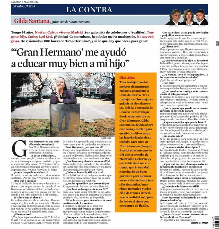 Gilda Santana por Víctor amela