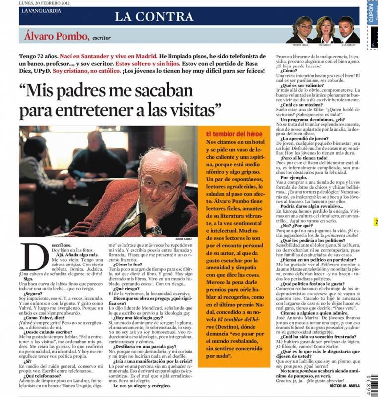 alvaro pombo entrevistado por victor amela