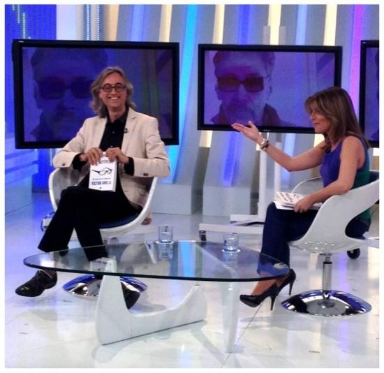 victor amela con pilar garcia muñiz en +Gente TVE