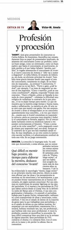 critica de TV 29 de abril 2012