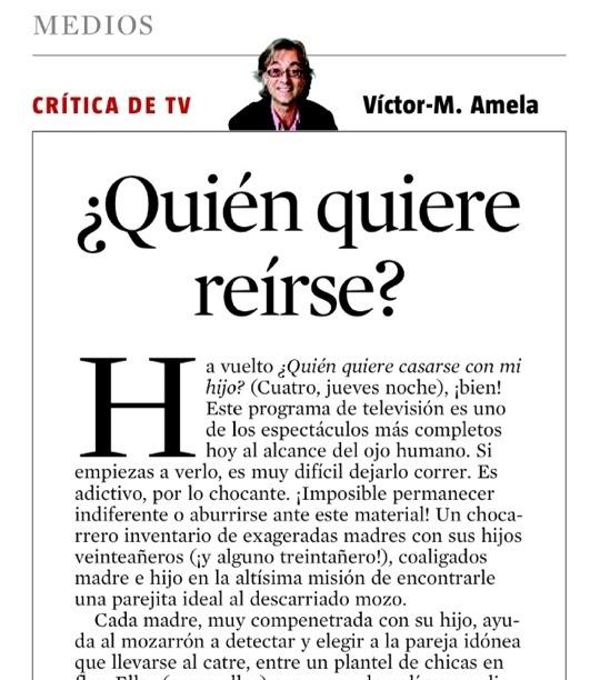 Víctor Amela crítico de televisión de La Vanguardia