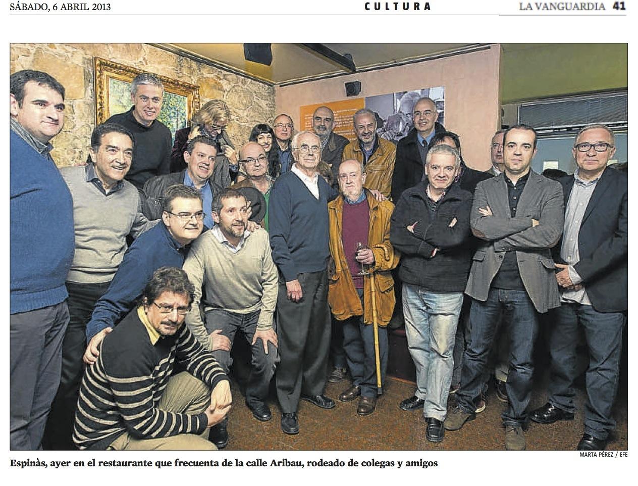 Encuentro de columnistas con Josep Maria Espinàs