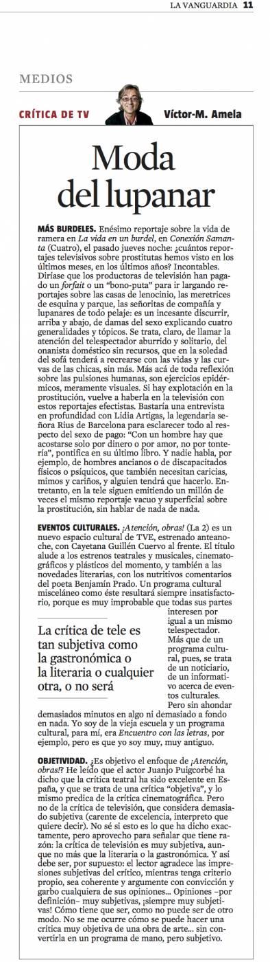 CriticaTV moda del lupanar 17 marzo 2013